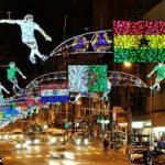 Soccer World Cup 2010 street lights