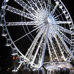 Ferris wheel, night lights, V and A Waterfront, Signal Hill