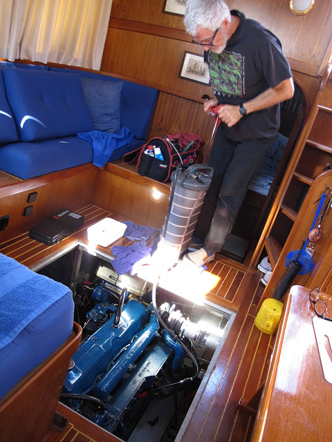 Cleaning the bilge