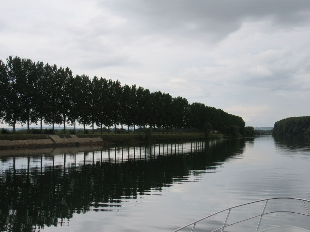 Back up the River Saone