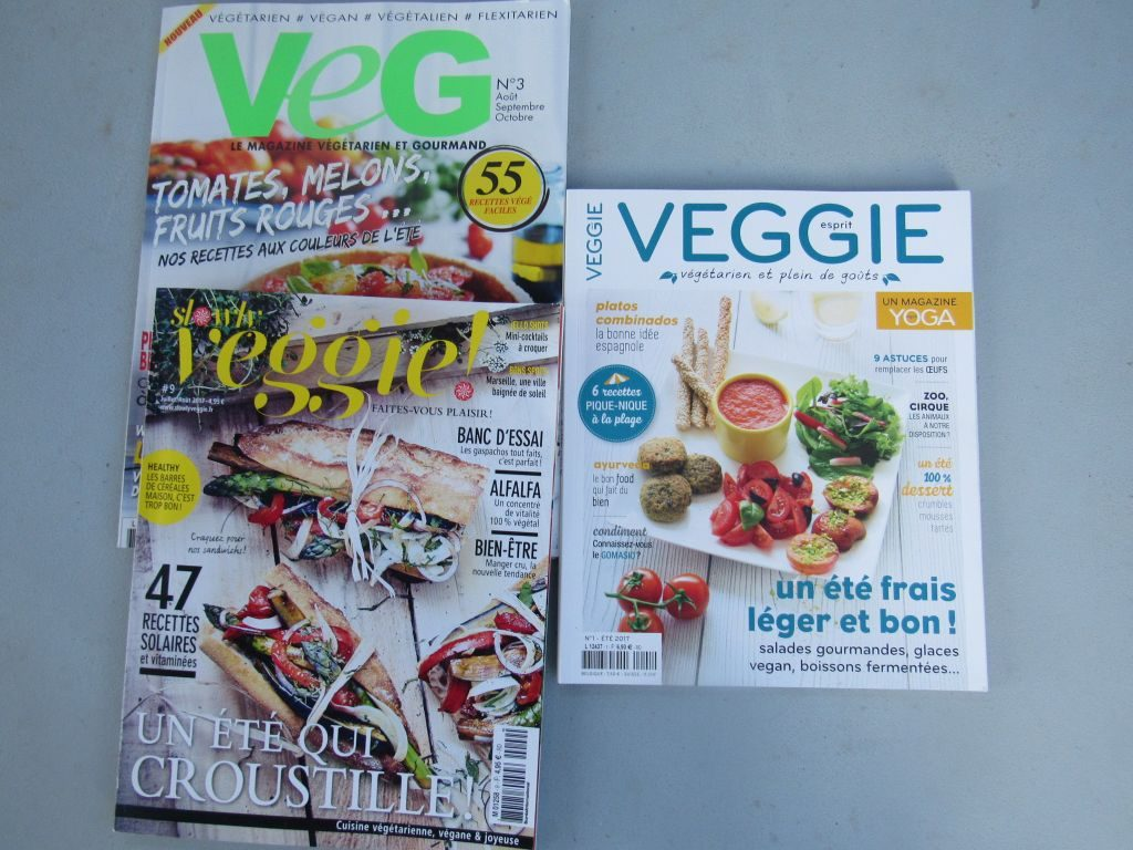 French veggie recipe magazines