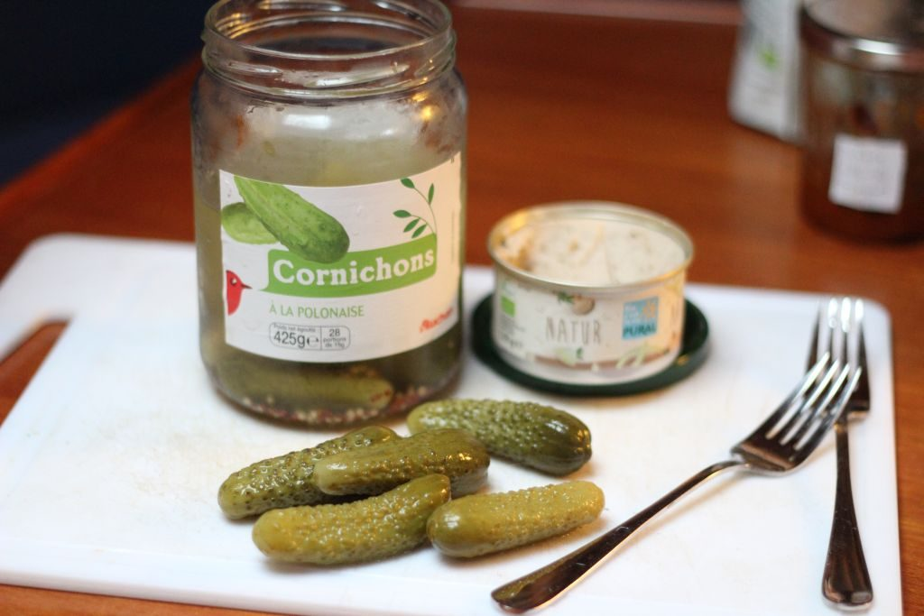 French pickles and pate