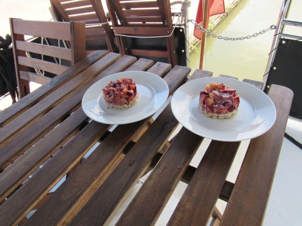 Raw stone fruit tart