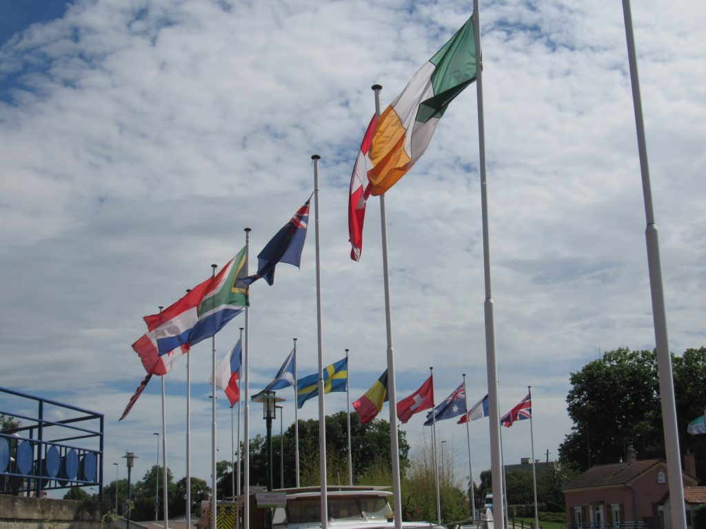 Flags of local boat owners home countries