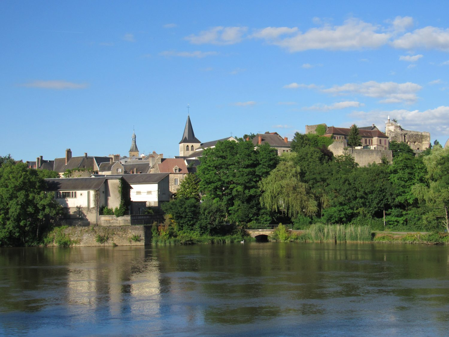 Looking over the River Loire to Decize old town