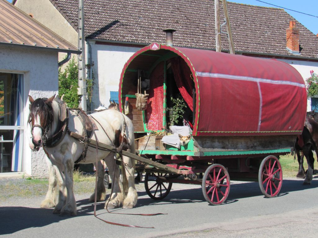 Old fashioned horse and cart